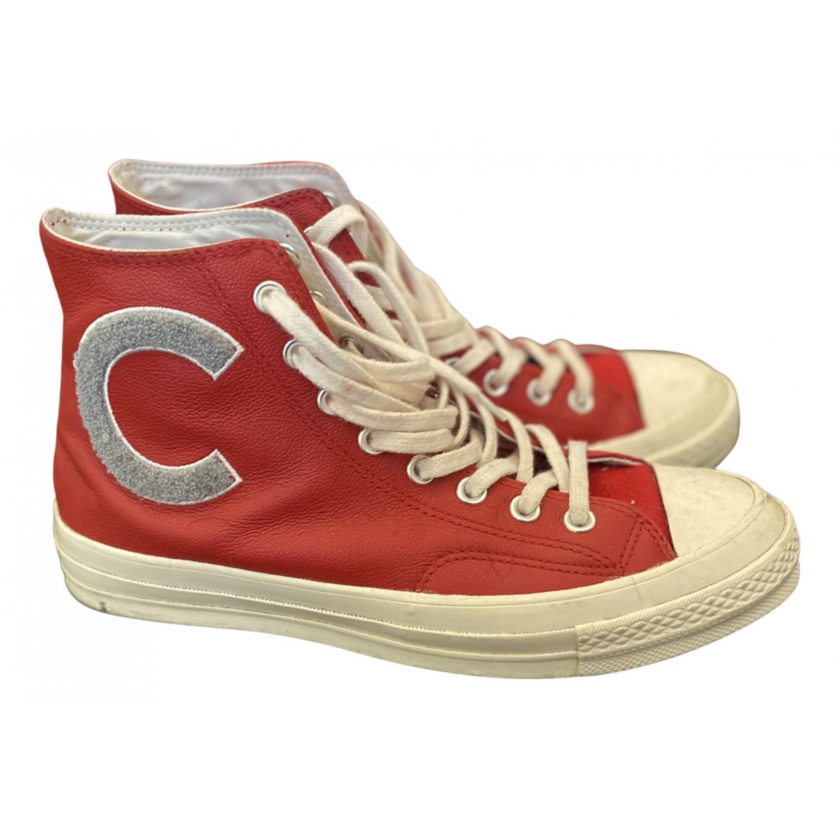 Converse \N Sneakers in  Rot Lackleder