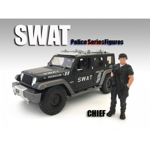 SWAT Team Chief Figure For 118 Scale Models by American Diorama