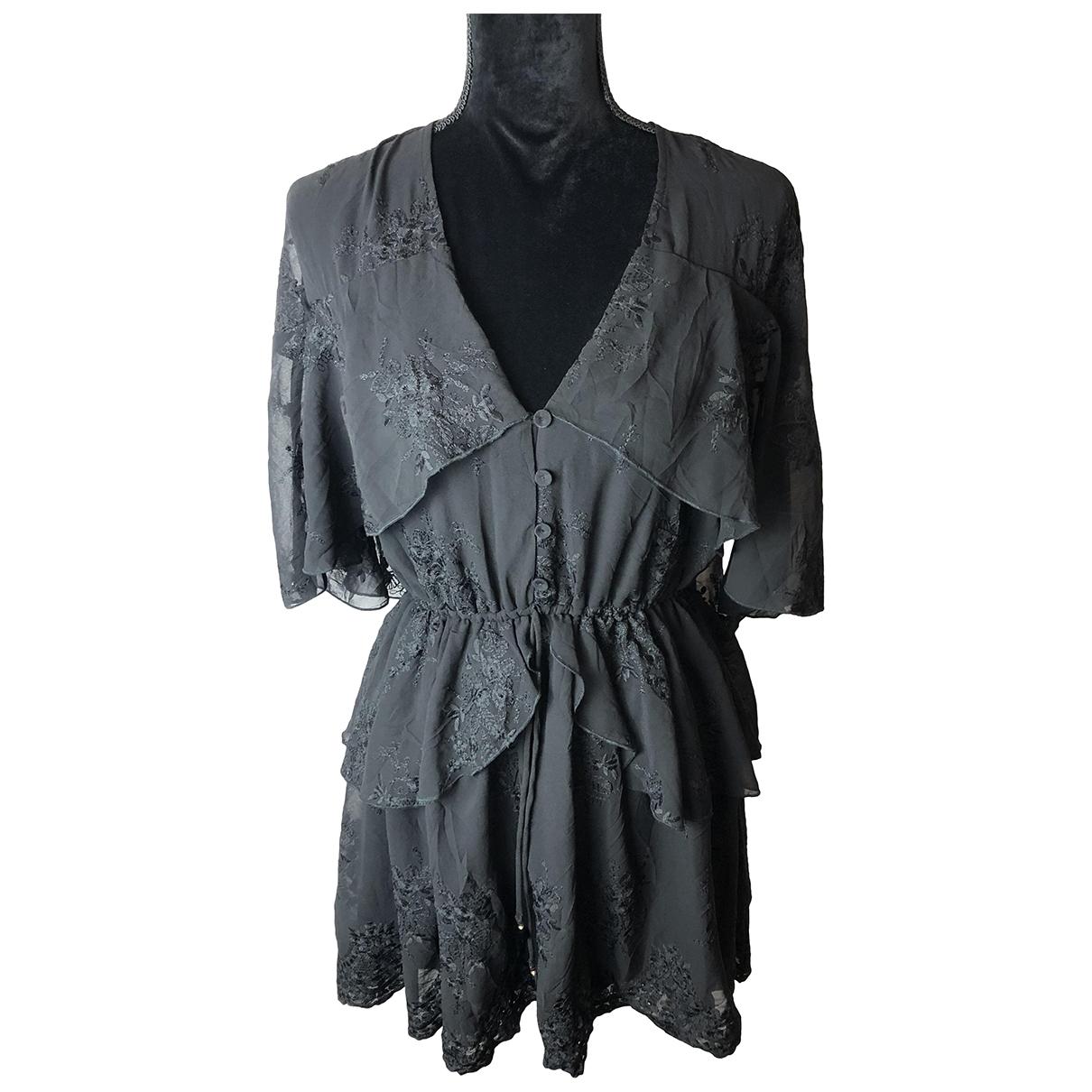 Elliatt Collective \N Kleid in  Schwarz Baumwolle