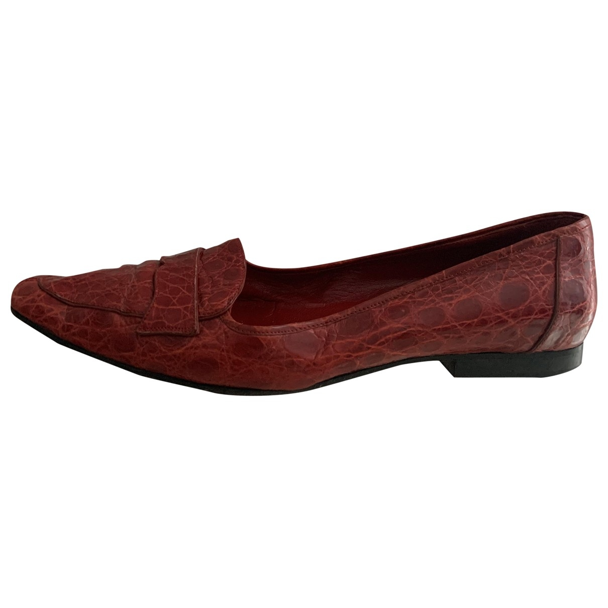 Andrea Pfister \N Red Crocodile Flats for Women 38 EU