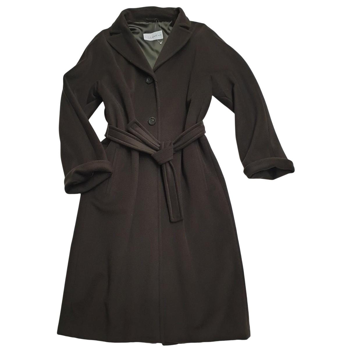 Marella - Manteau   pour femme en laine - marron