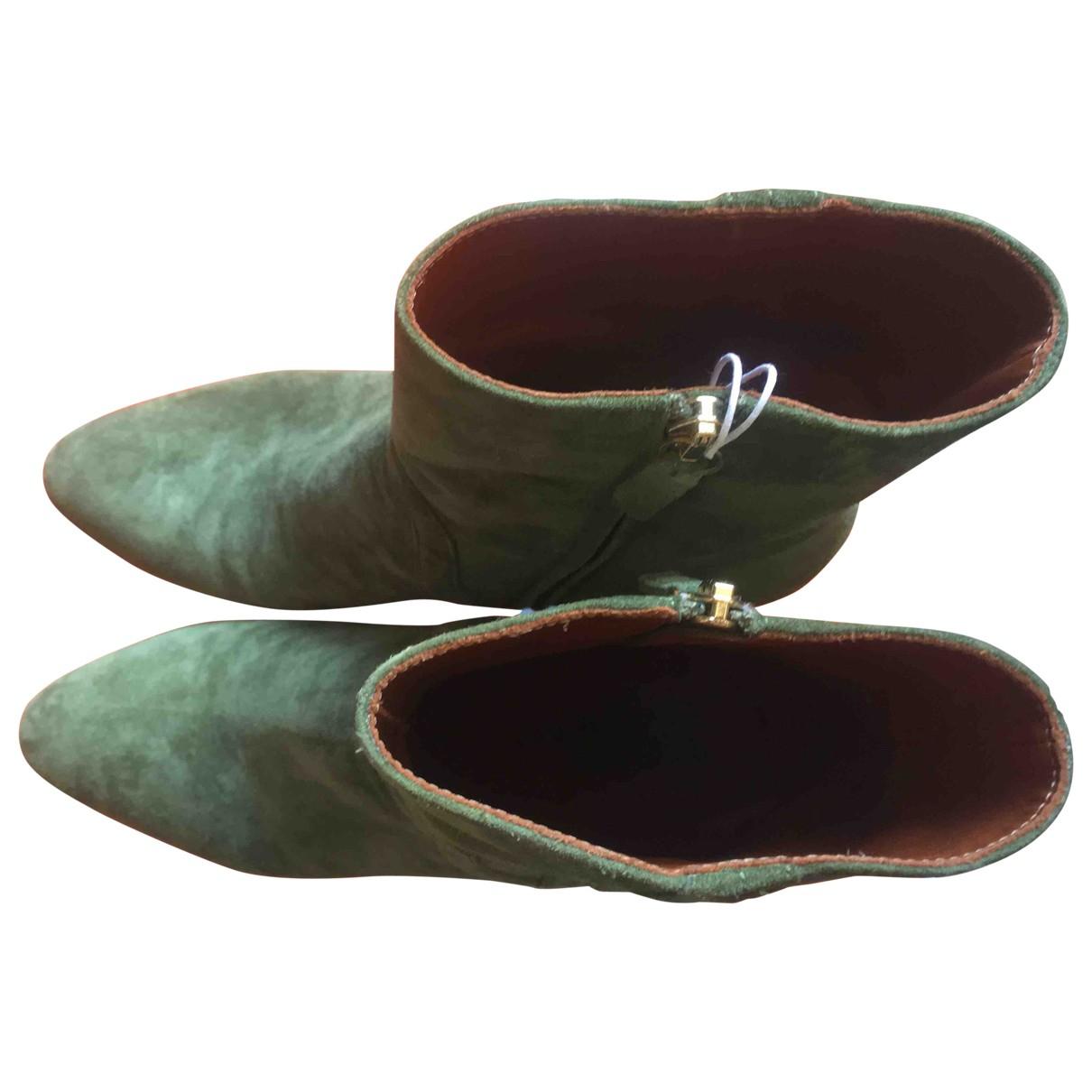 Michel Vivien - Boots   pour femme en suede - vert