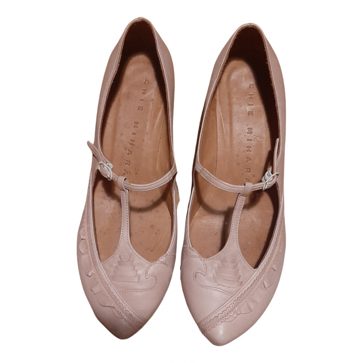 Chie Mihara N Pink Leather Ballet flats for Women 36 EU