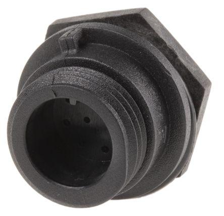 Bulgin Connector, 10 contacts Front Mount Miniature Plug, Crimp, Solder IP68, IP69K