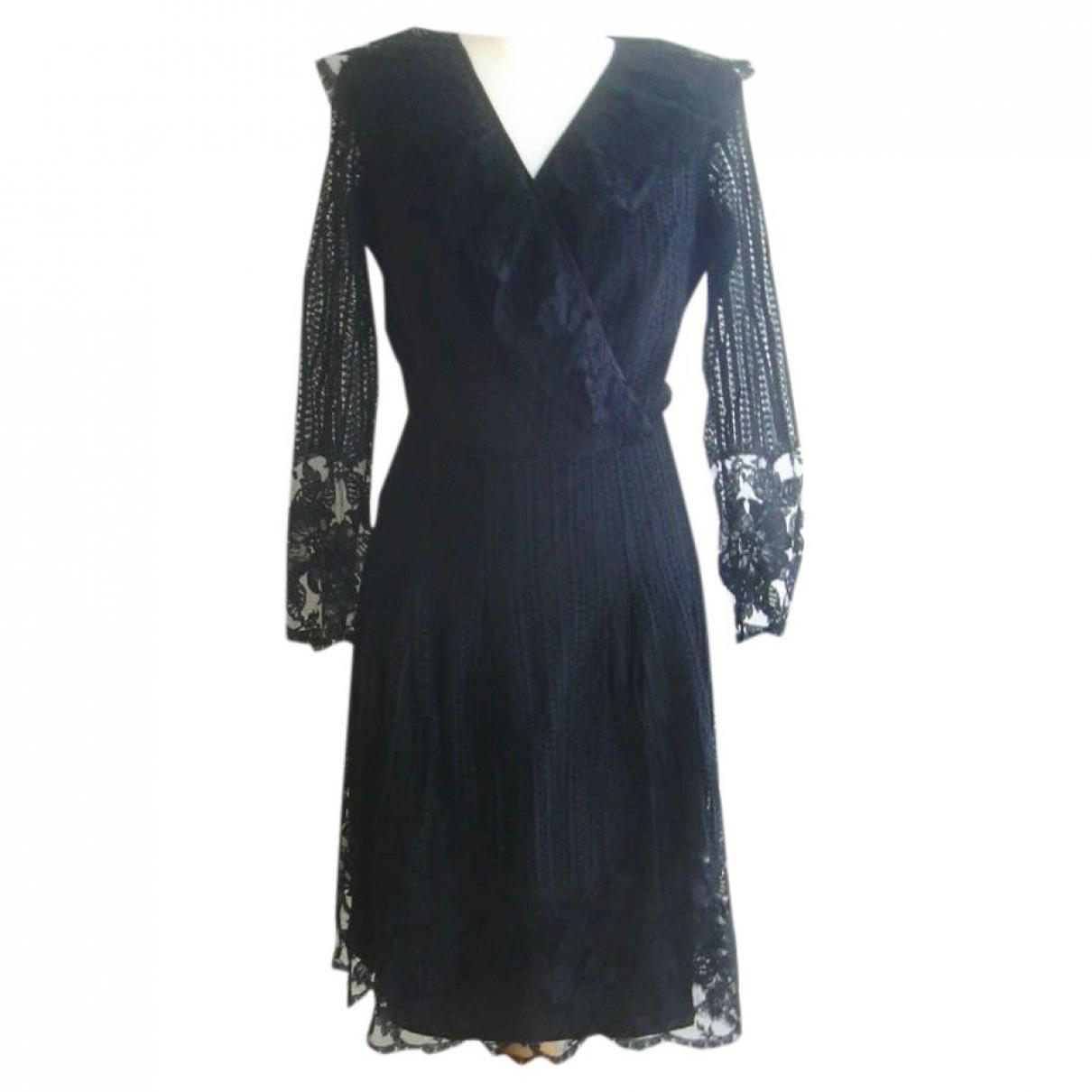 Non Signe / Unsigned \N Kleid in  Schwarz Spitze