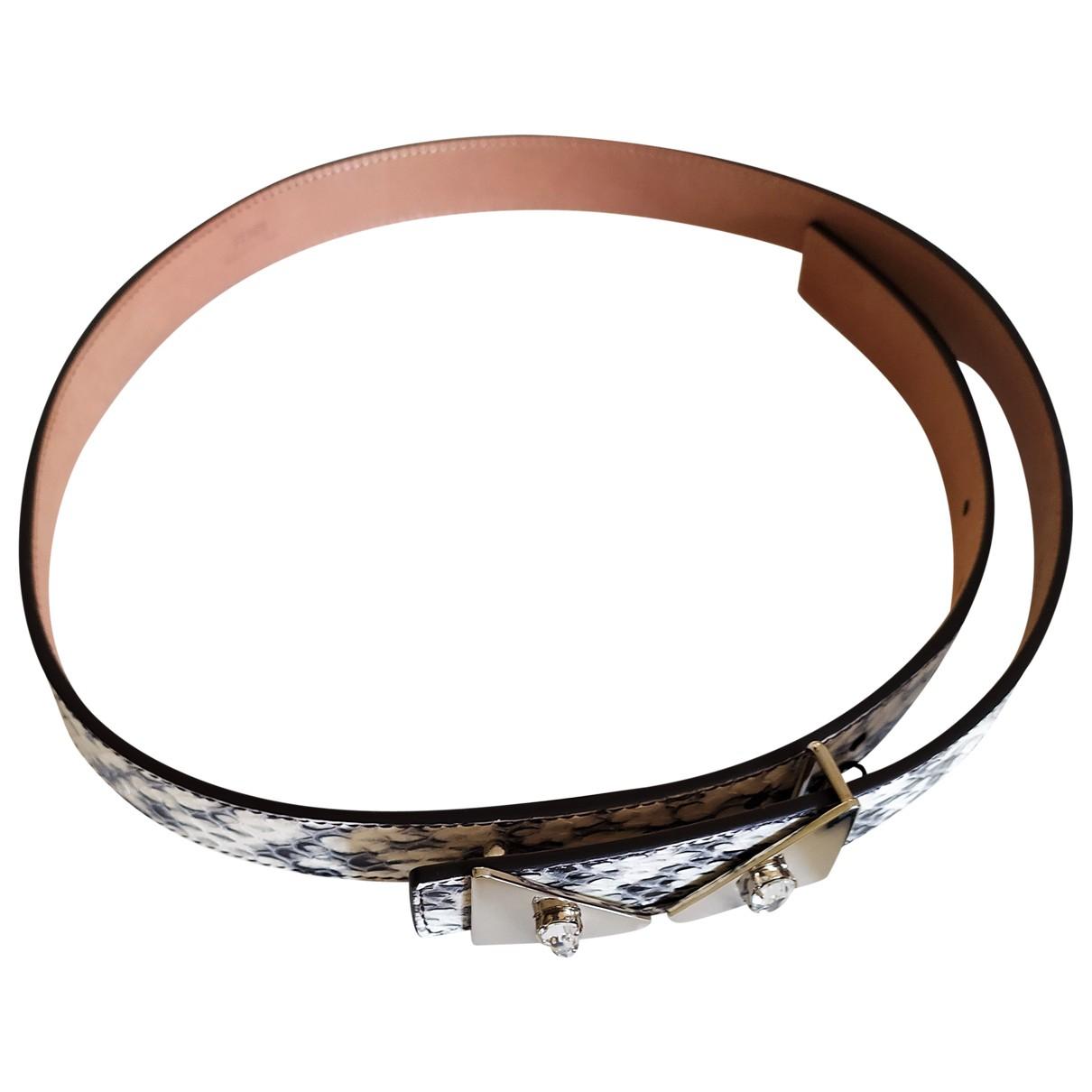 Fendi \N Grey Python belt for Women 80 cm