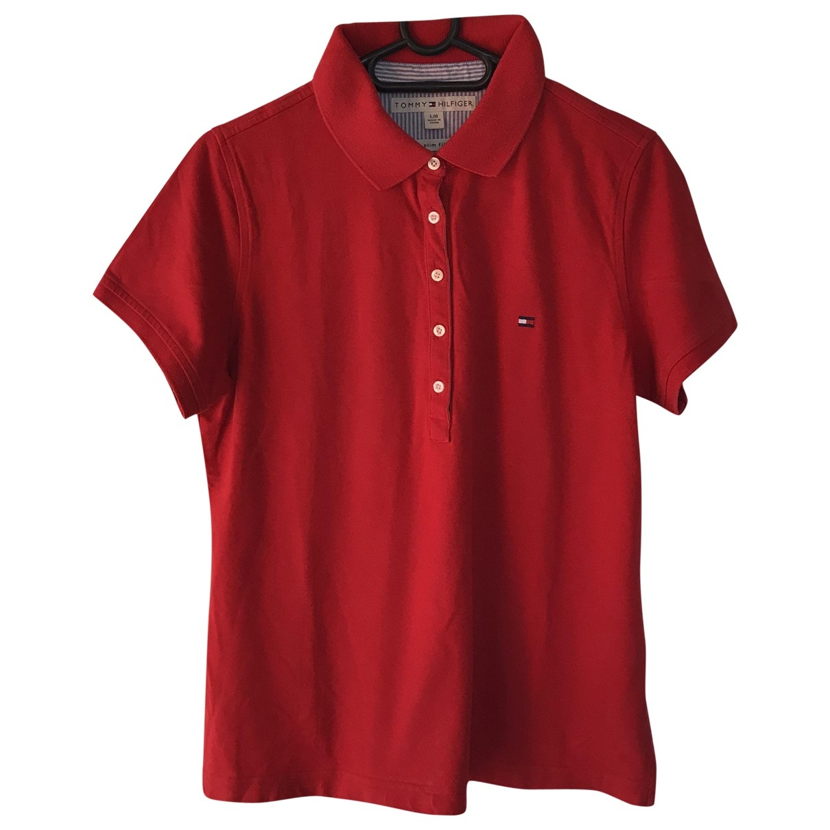 Tommy Hilfiger \N Red Cotton  top for Women L International