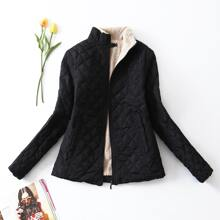 Teddy Lined Zip Up Padded Coat