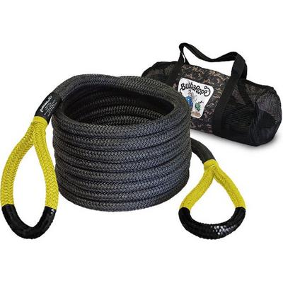 Bubba Rope 30-feet Black Power Stretch Recovery Rope (Yellow Eye) - 176680YWG
