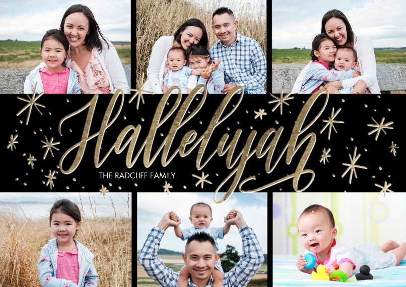 Christmas Photo Cards 5x7 Cards, Premium Cardstock 120lb with Elegant Corners, Card & Stationery -Christmas Hallelujah by Tumbalina