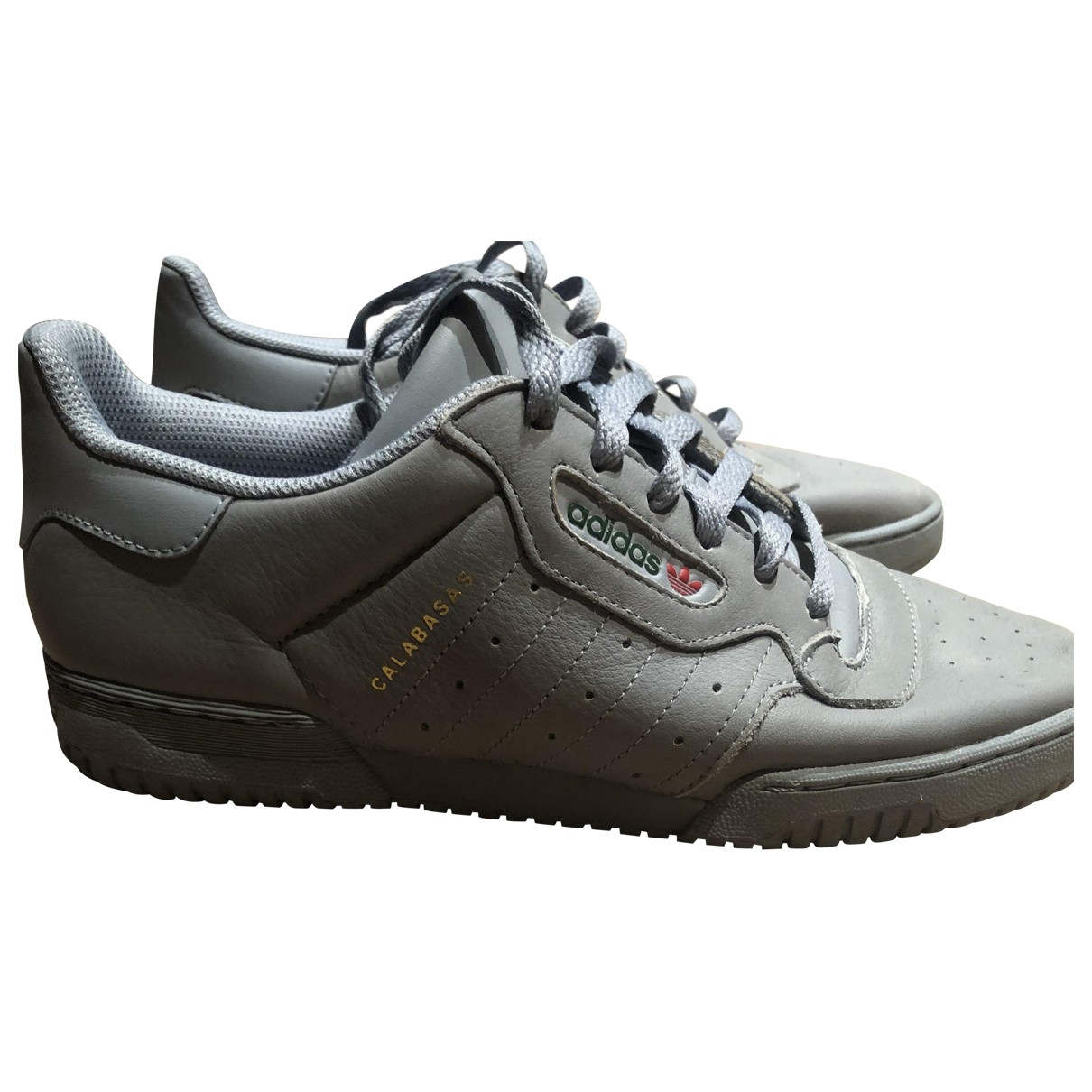 Yeezy X Adidas POWERPHASE Grey Leather Trainers for Men 10 UK