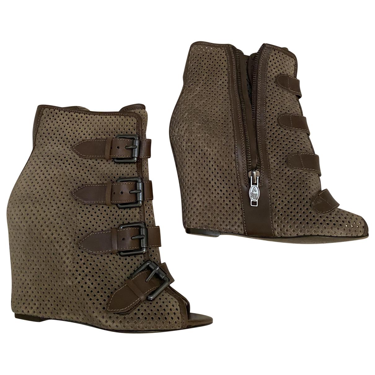 Ash \N Multicolour Leather Ankle boots for Women 36 EU