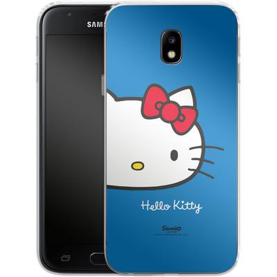 Samsung Galaxy J3 (2017) Silikon Handyhuelle - Hello Kitty Closeup von Hello Kitty