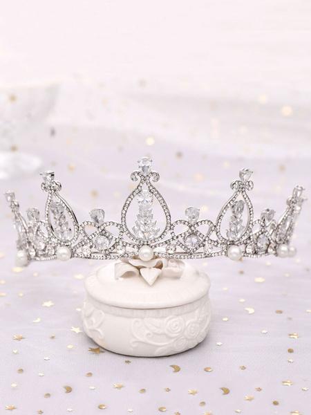 Milanoo Wedding Headpieces Tiara RhinestoneMetal Hair Accessories For Bride