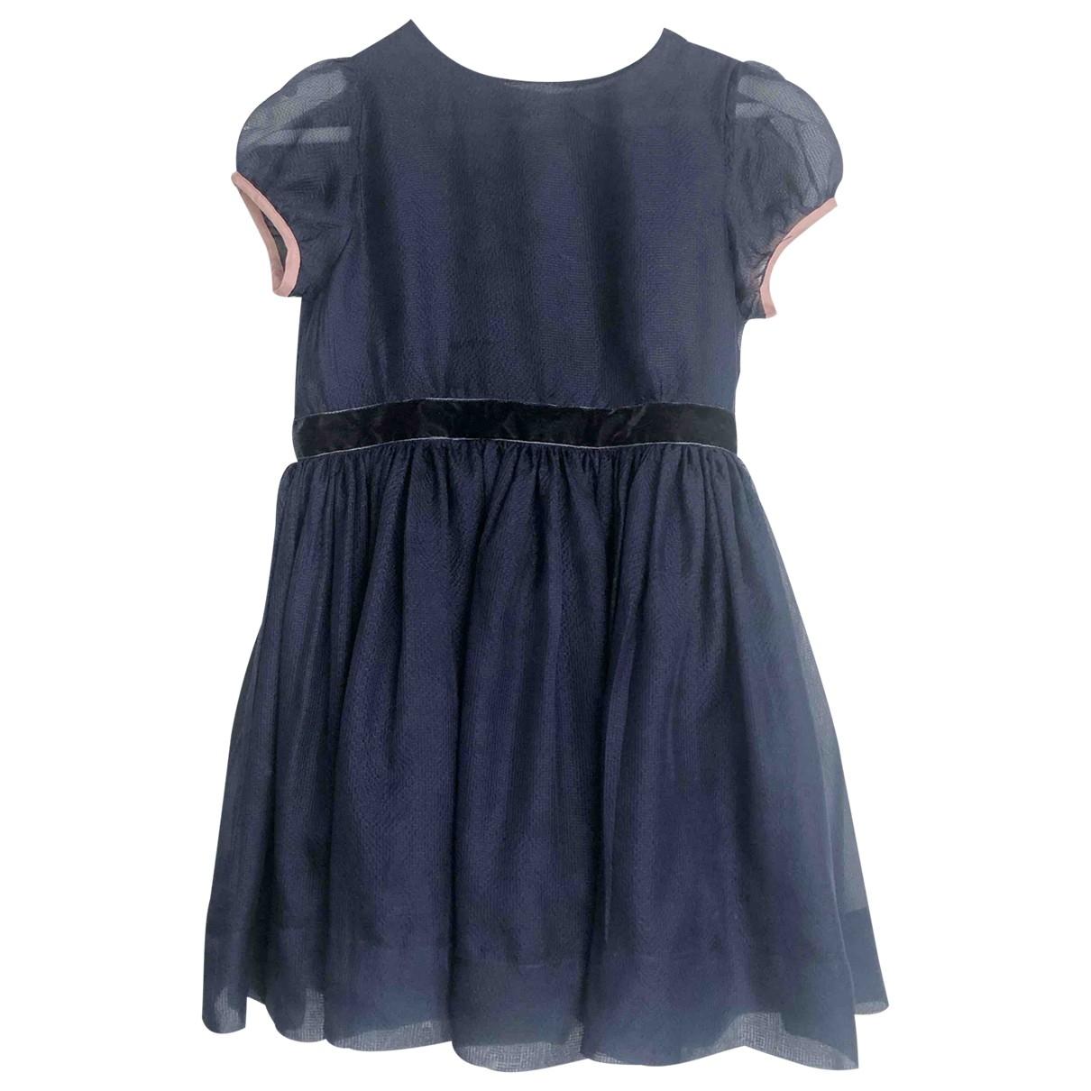 Caramel Baby & Child \N Kleid in  Marine Seide
