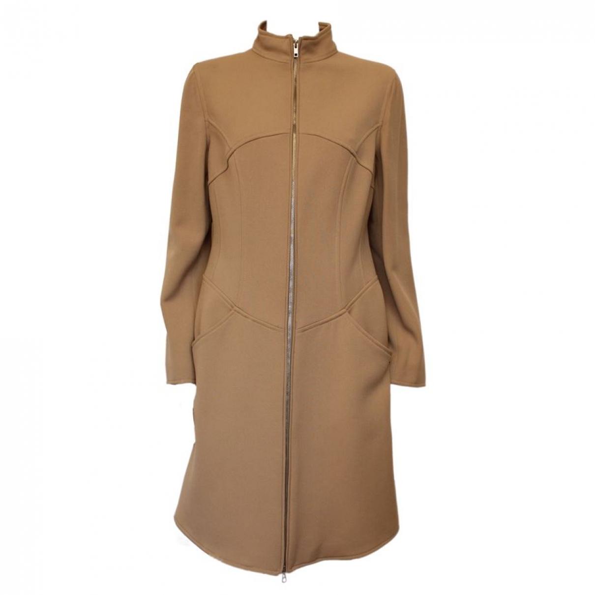 Moschino \N Beige Wool coat for Women 44 IT