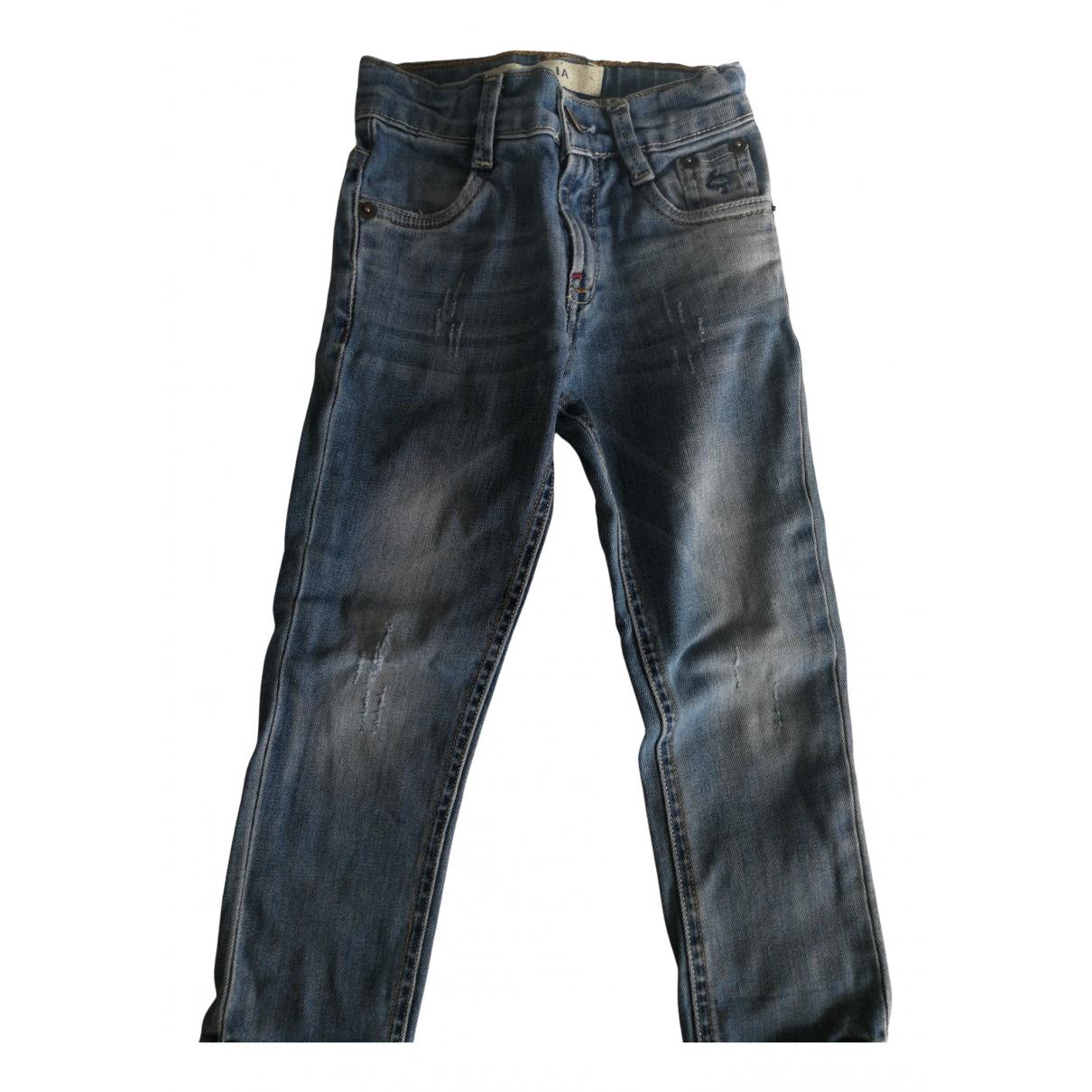 Atelier Siviglia - Pantalon   pour enfant en denim - bleu