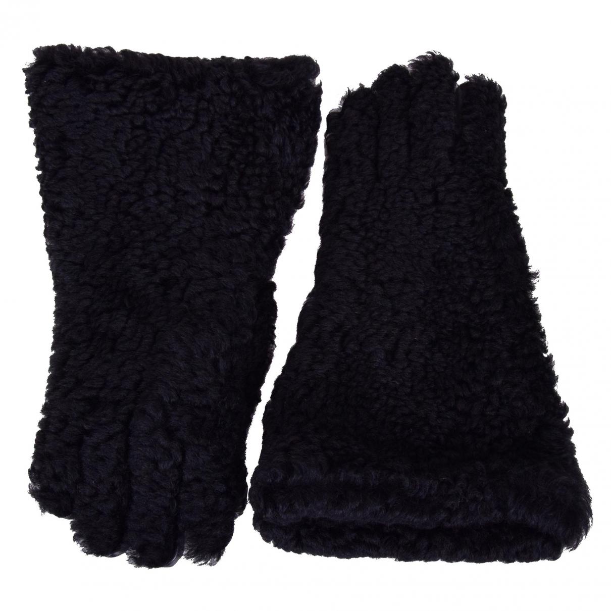 Dolce & Gabbana \N Black Fur Gloves for Men 8.5 - 9 Inches