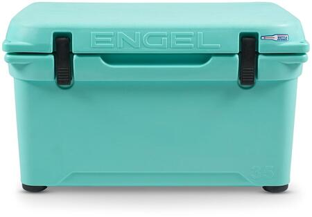 ENG35-SF 26 Roto-Molded Cooler with 35 Quarts Capacity  Durable Seamless Rotationally-Molded Construction  and Dry Ice Compatible  in Sea Foam