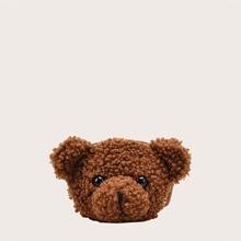 Mini Toy Bear Shaped Crossbody Bag