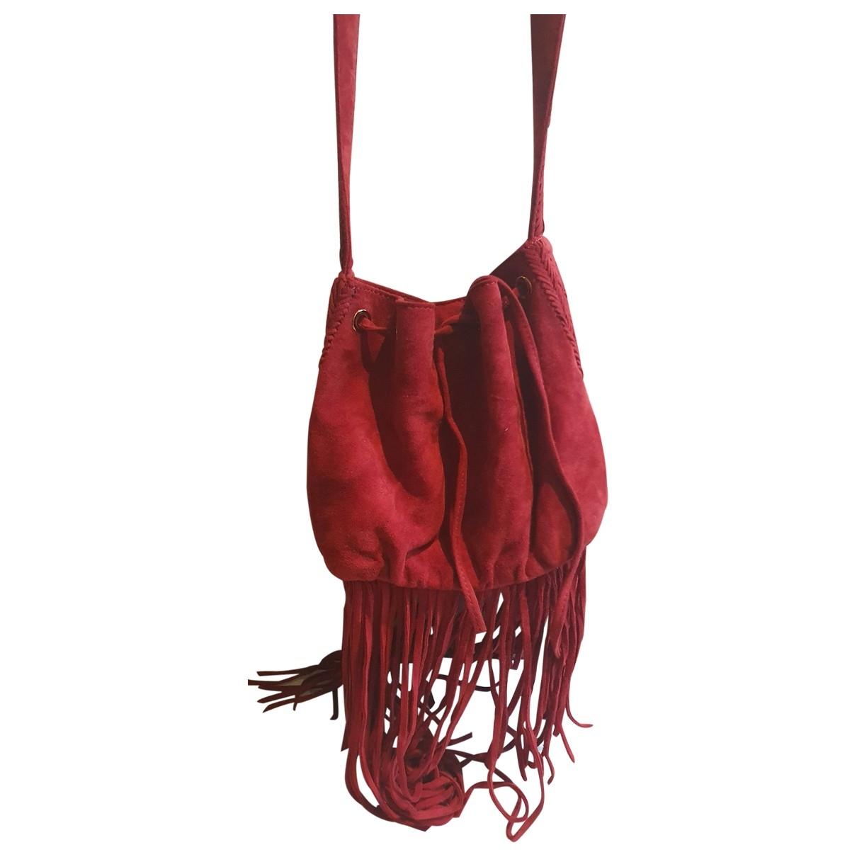 Maje \N Burgundy Suede handbag for Women \N