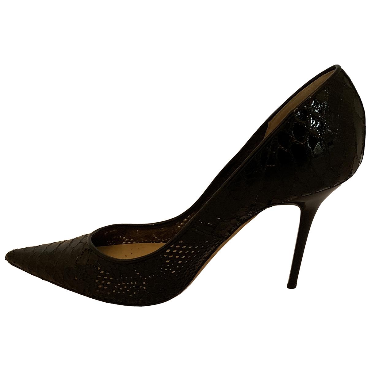 Jimmy Choo \N Black Patent leather Heels for Women 34.5 EU
