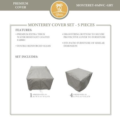 MONTEREY-05dWC-GRY Protective Cover Set  for MONTEREY-05d in