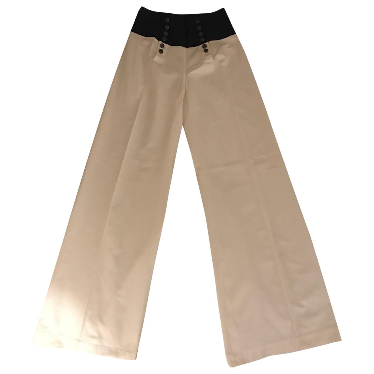 Ralph Lauren Purple Label - Pantalon   pour femme en coton - blanc