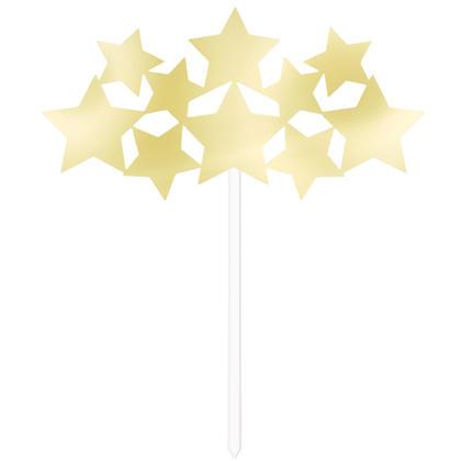 Gold Foil Stars Cake Topper