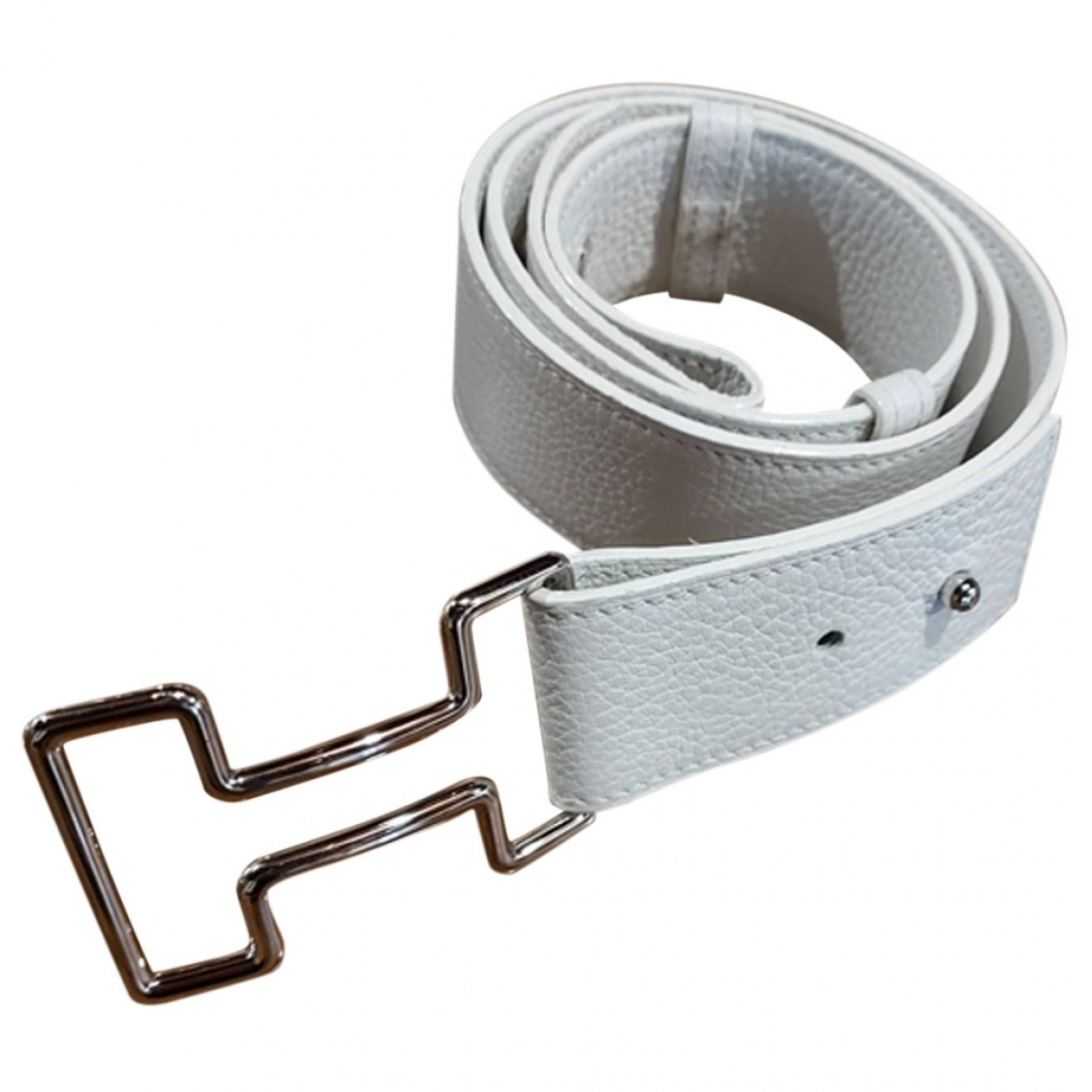 Hermès H White Leather belt for Women 90 cm