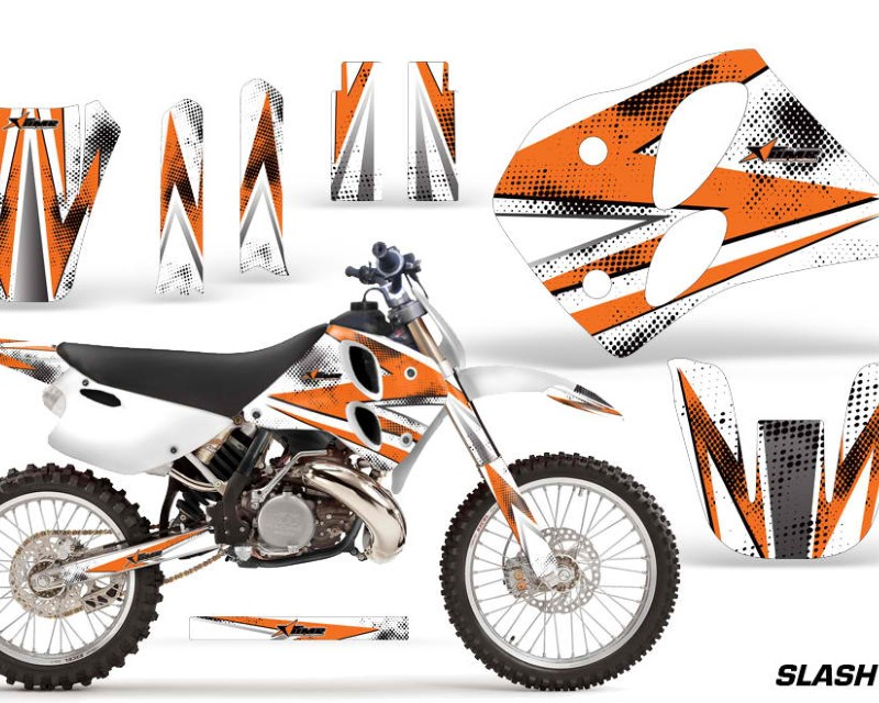 AMR Racing Dirt Bike Graphics Kit Decal Sticker Wrap For KTM SX/XC/EXC/LC2 1993-1997áSLASH ORANGE