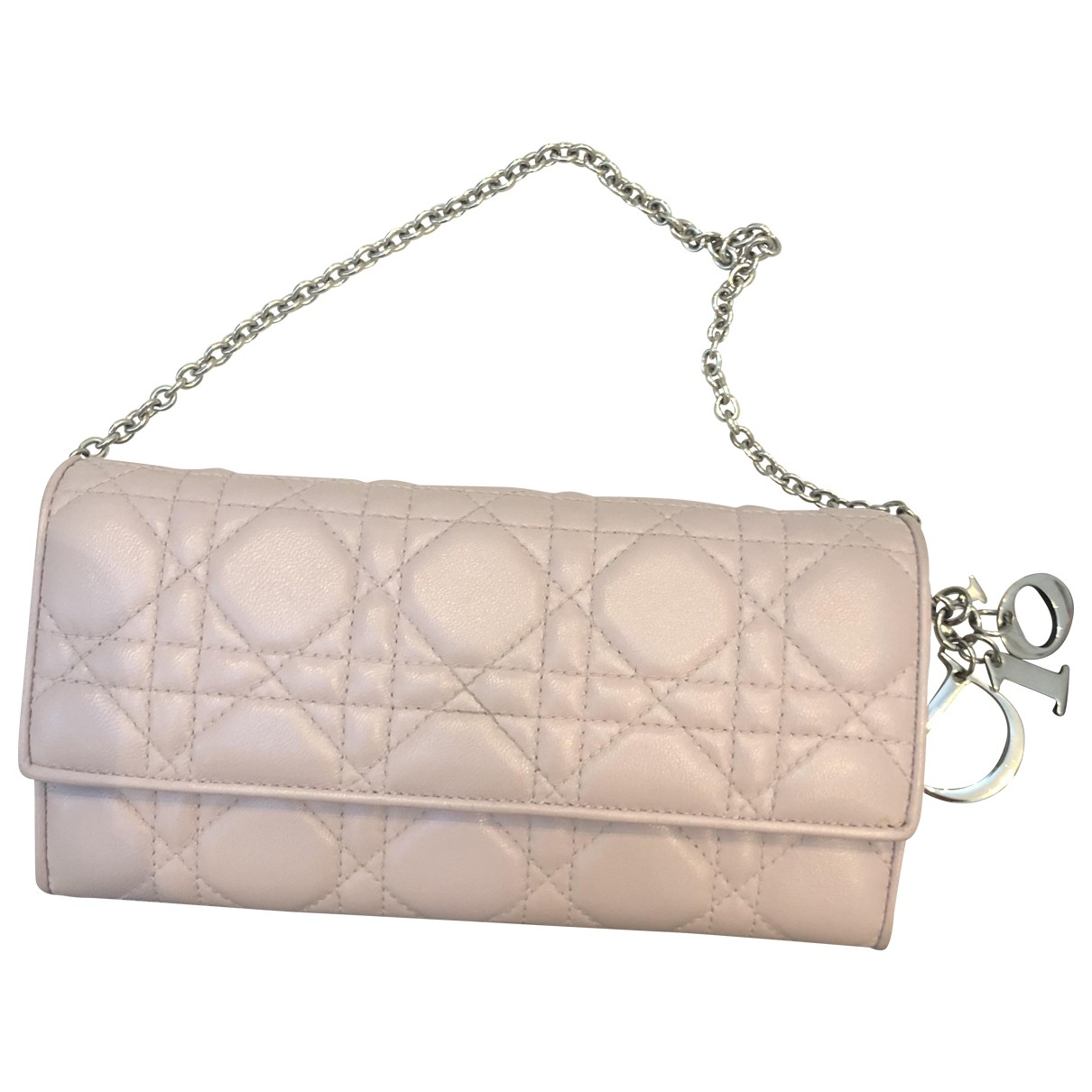 Dior Lady Dior Pink Leather Clutch bag for Women \N