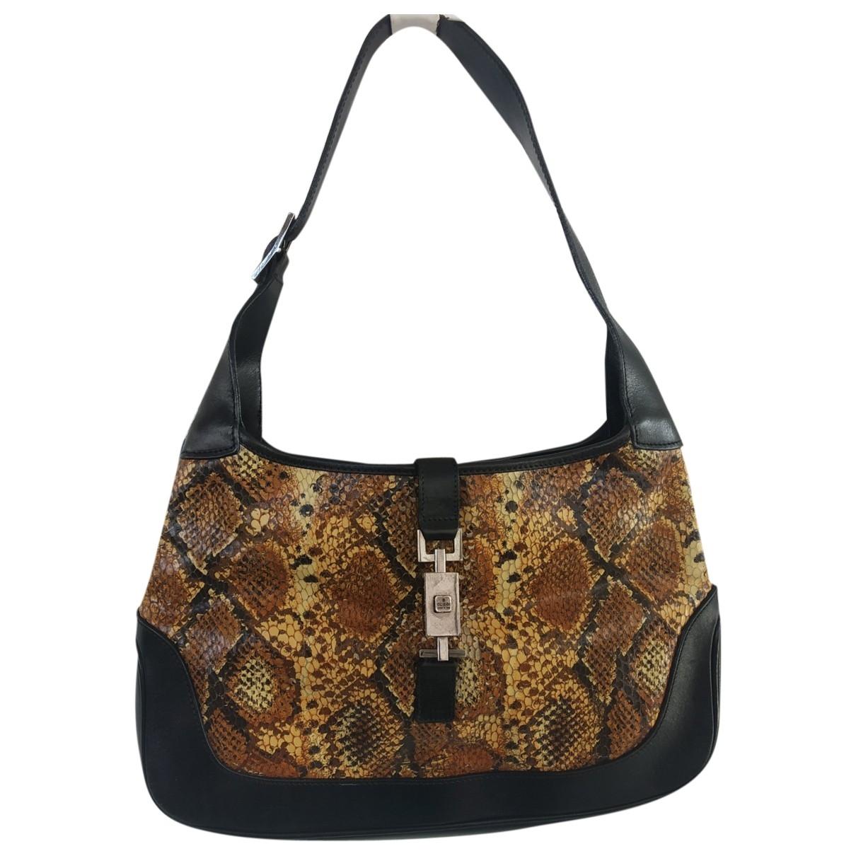 Gucci Jackie Vintage  Handtasche in  Schwarz Python