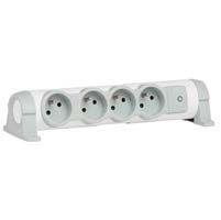 Legrand 4 Gang Trailing Sockets & Power Distribution, 16 A, 230 V, No, White
