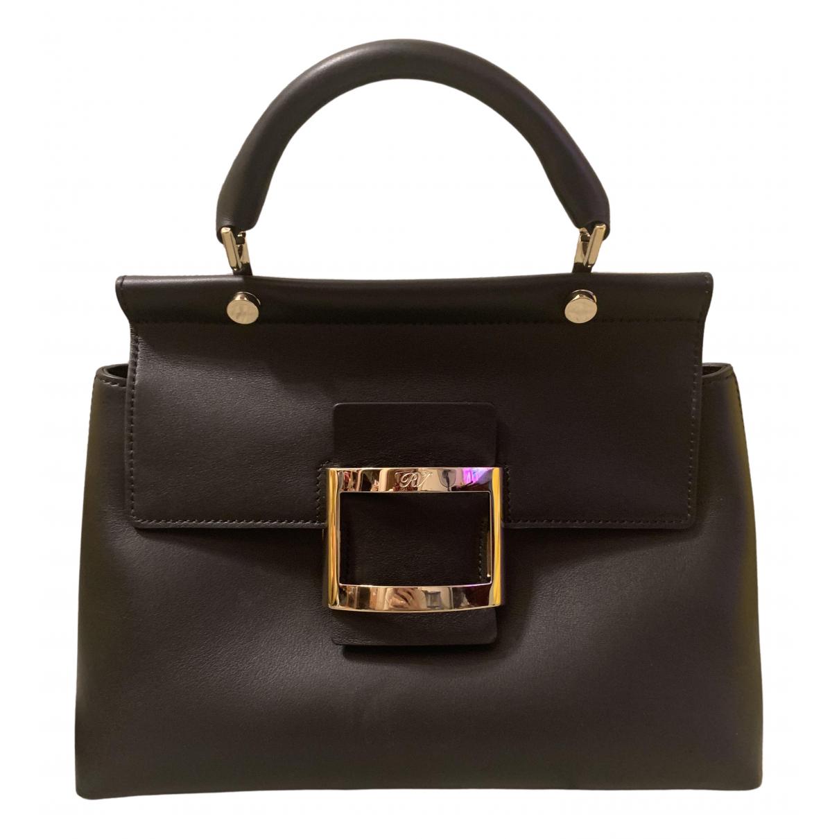 Roger Vivier \N Black Leather handbag for Women \N