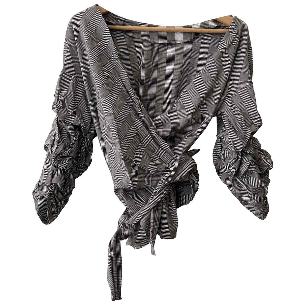 Zara \N Top in  Grau Polyester