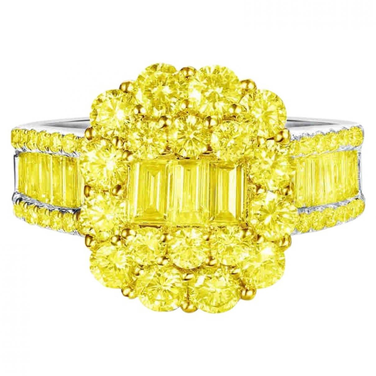 - Bague Motifs Floraux pour femme en or blanc