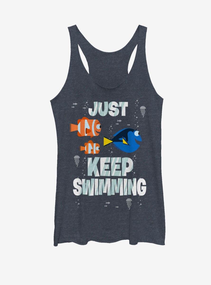 Disney Pixar Finding Nemo Just Keep Swimming Womens Tank