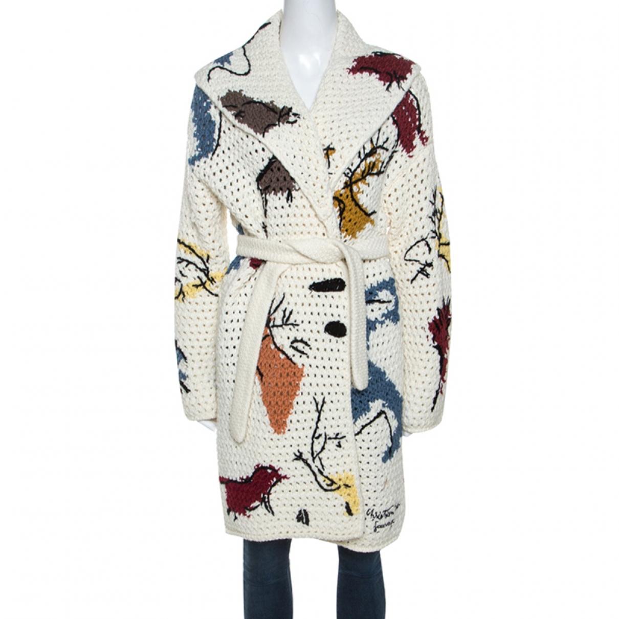 Christian Dior - Veste   pour femme en coton - blanc