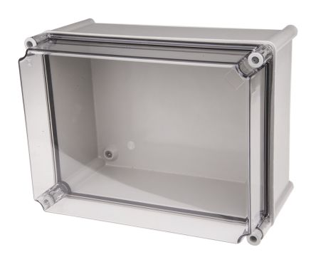 CAHORS GRP Combiester, Grey, Transparent Fibreglass Enclosure, IP66, 360 x 270 x 201mm