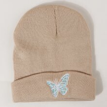 Men Butterfly Embroidered Beanie