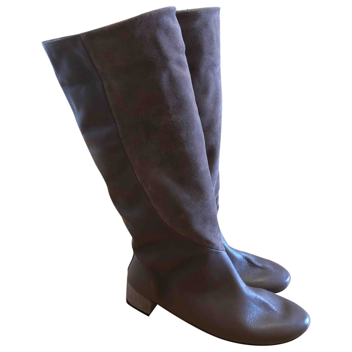 Repetto \N Brown Leather Boots for Women 39 EU