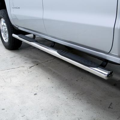 Go Rhino 4 Inch OE Xtreme Plus Side Steps Kit, Cab Length (Polished Stainless) - 684406771PS