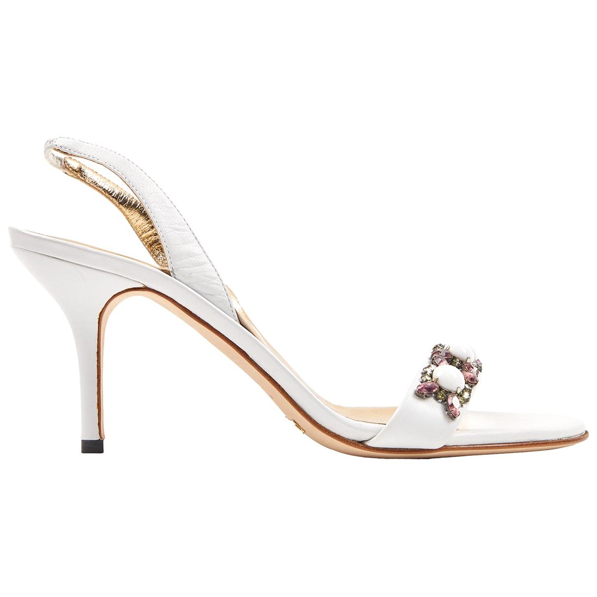 Dolce & Gabbana \N Sandalen in  Weiss Leder