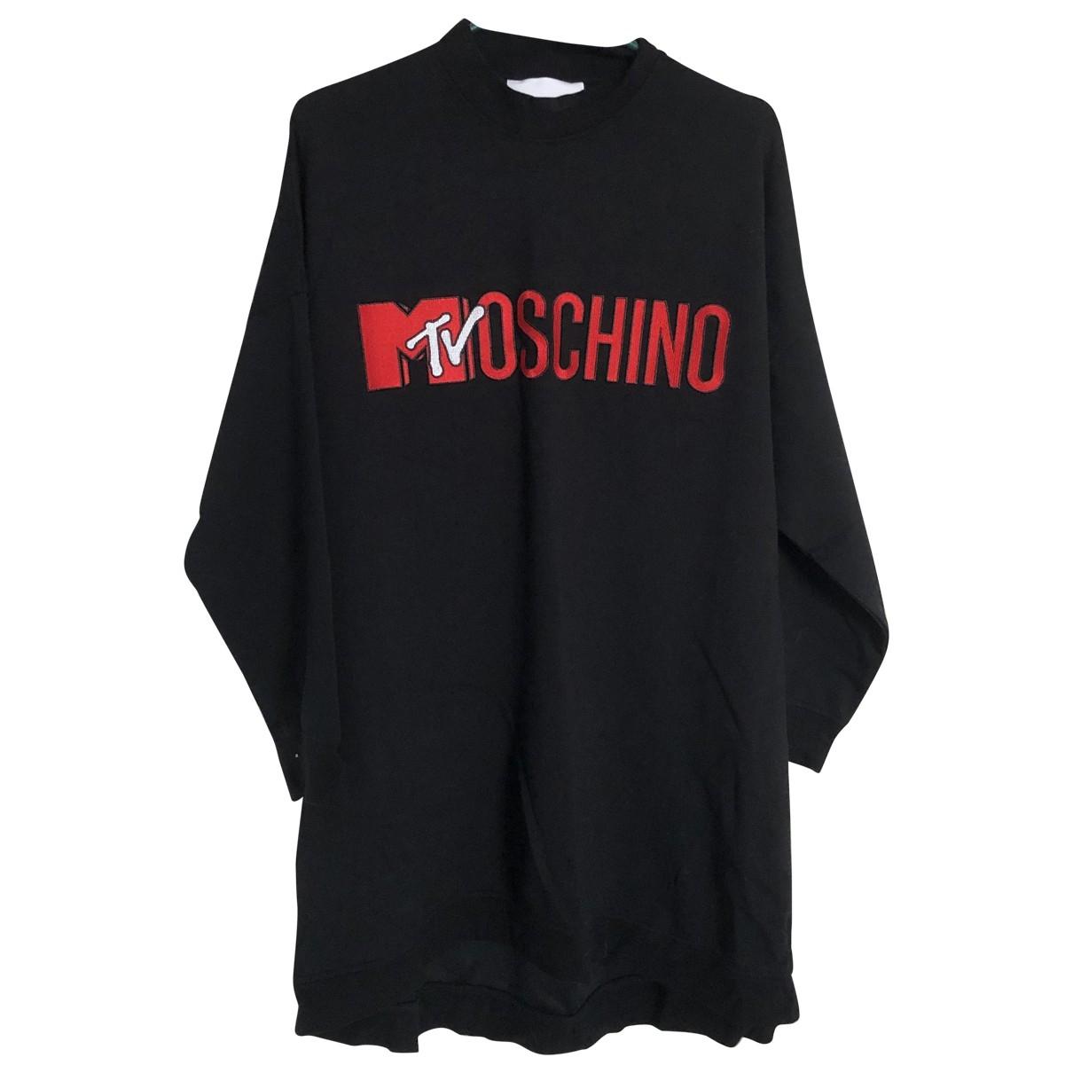 Moschino For H&m \N Kleid in  Schwarz Baumwolle