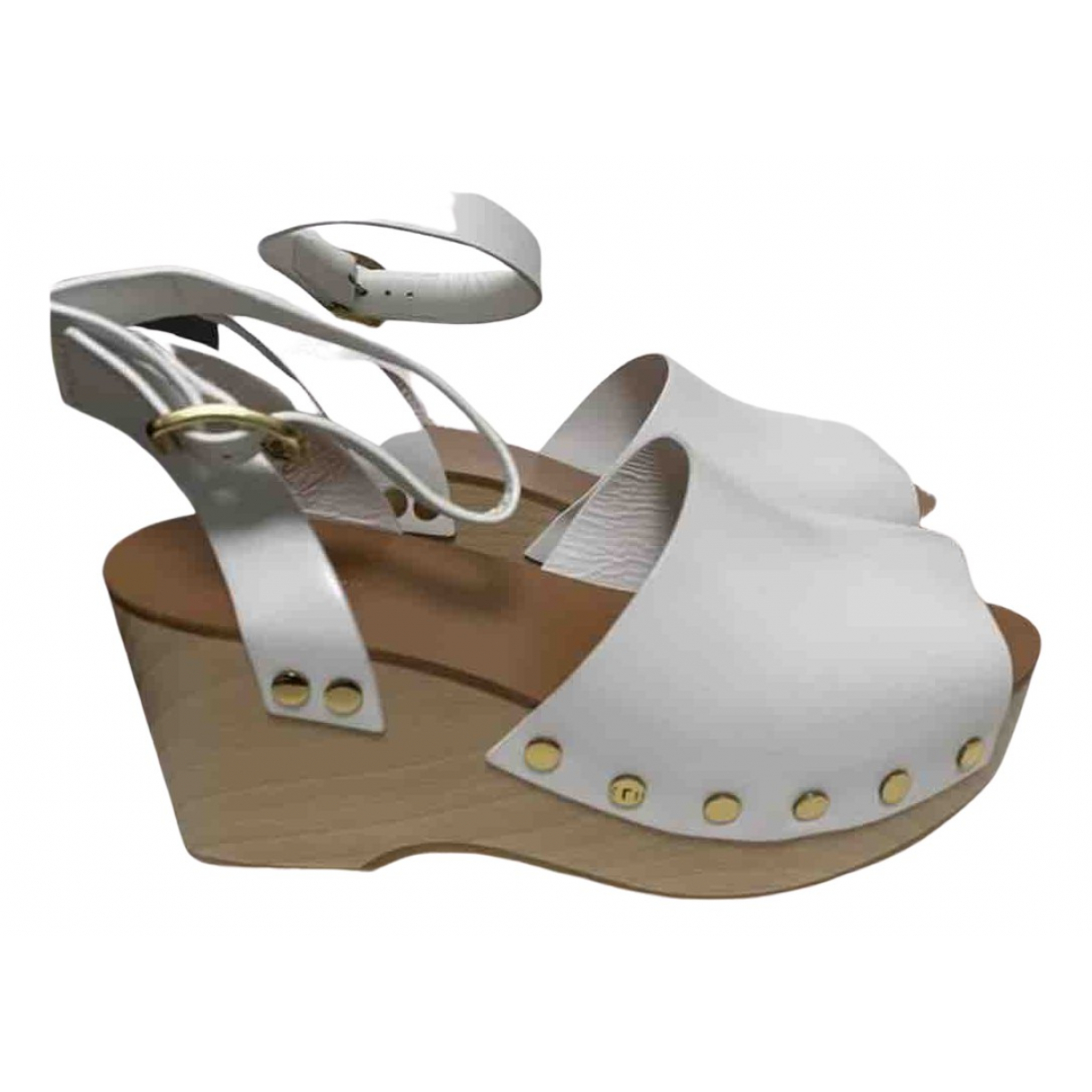 Celine N White Leather Mules & Clogs for Women 39 EU