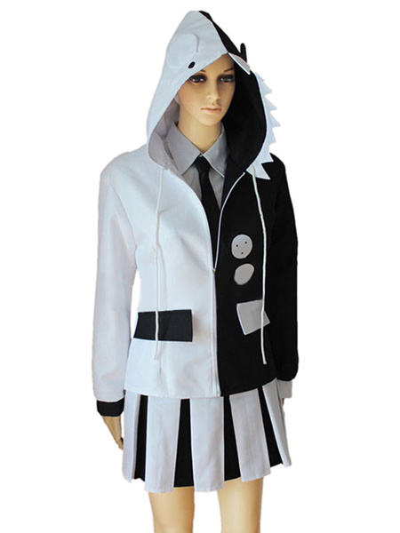 Milanoo Halloween Version de chicas Danganronpa Monokuma Cosplay traje