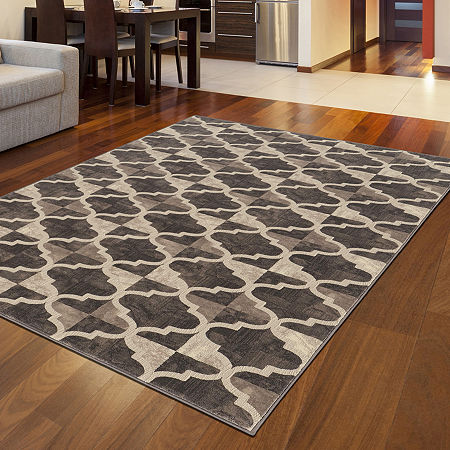 Iseo Isac Modern Geometric Contemporary Area Rug, One Size , Brown