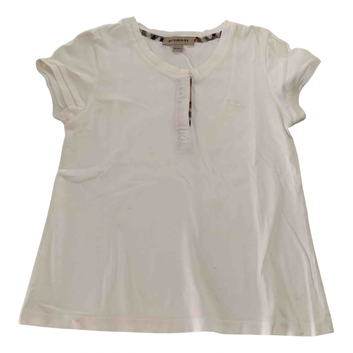 Burberry N White Cotton  top for Kids 8 years - up to 128cm FR