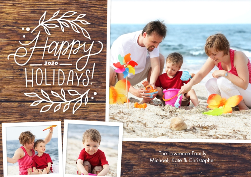 Holiday Photo Cards Flat Matte Photo Paper Cards with Envelopes, 5x7, Card & Stationery -Holiday 2020 Foliage by Tumbalina